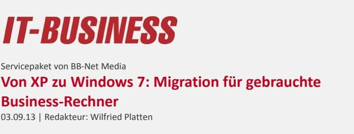 Von XP zu Windows 7 Migration
