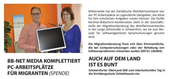 komplettierte PC-Arbeitsplätze für Migranten