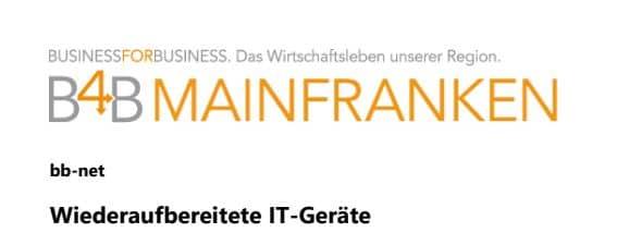 Beitrag Business for business Mainfranken