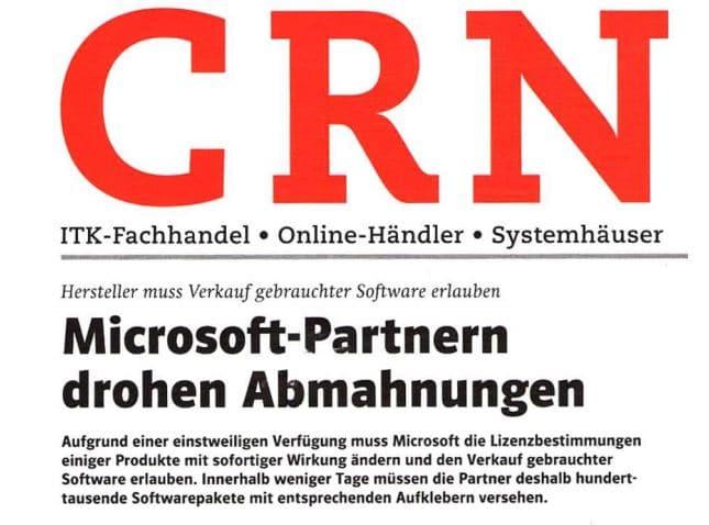 Microsoft-Partnern drohen Abmahnungen