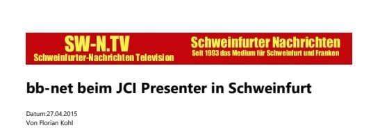 JCI Presenter in Schweinfurt