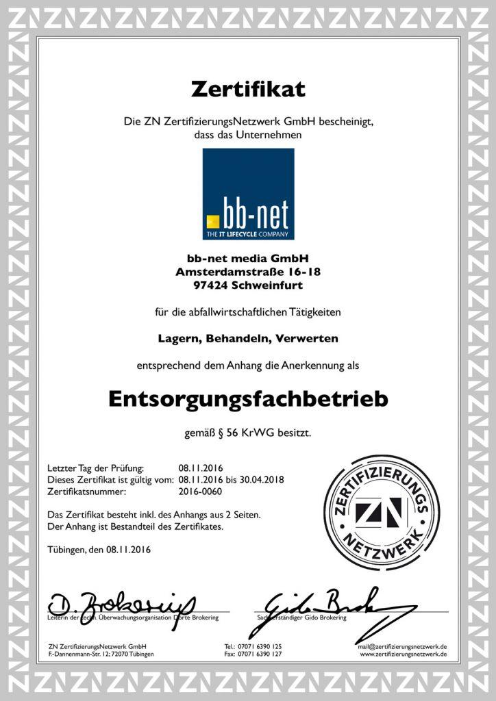 bb-net Entsorgungsfachbetrieb