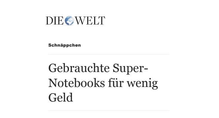Wereld gebruikte notebooks