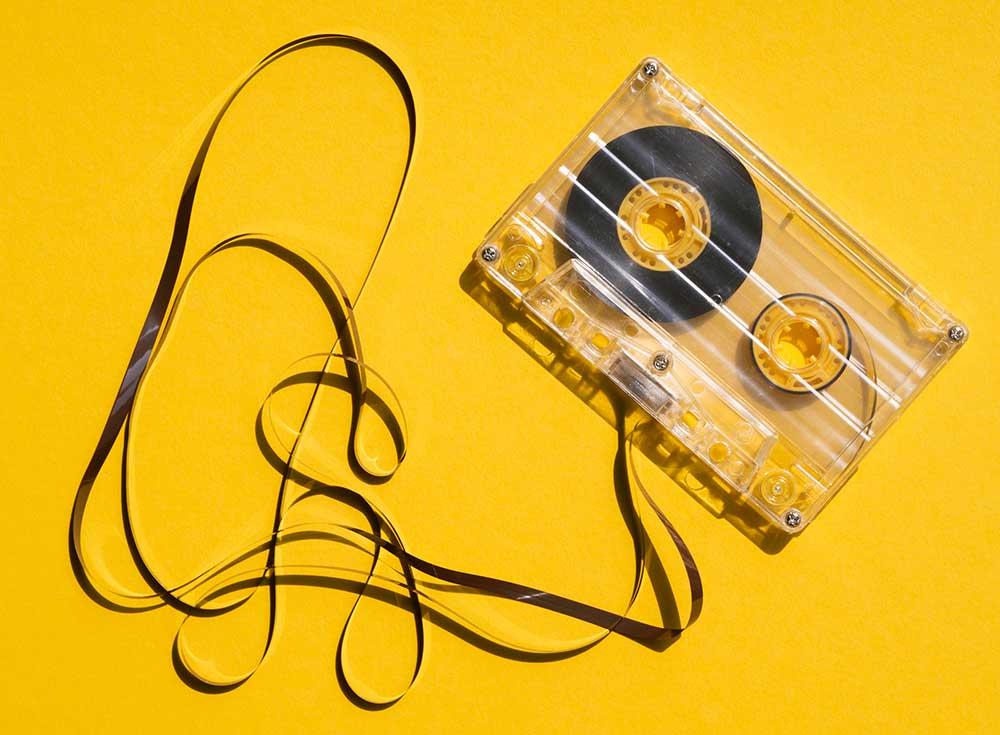 kassette gelb