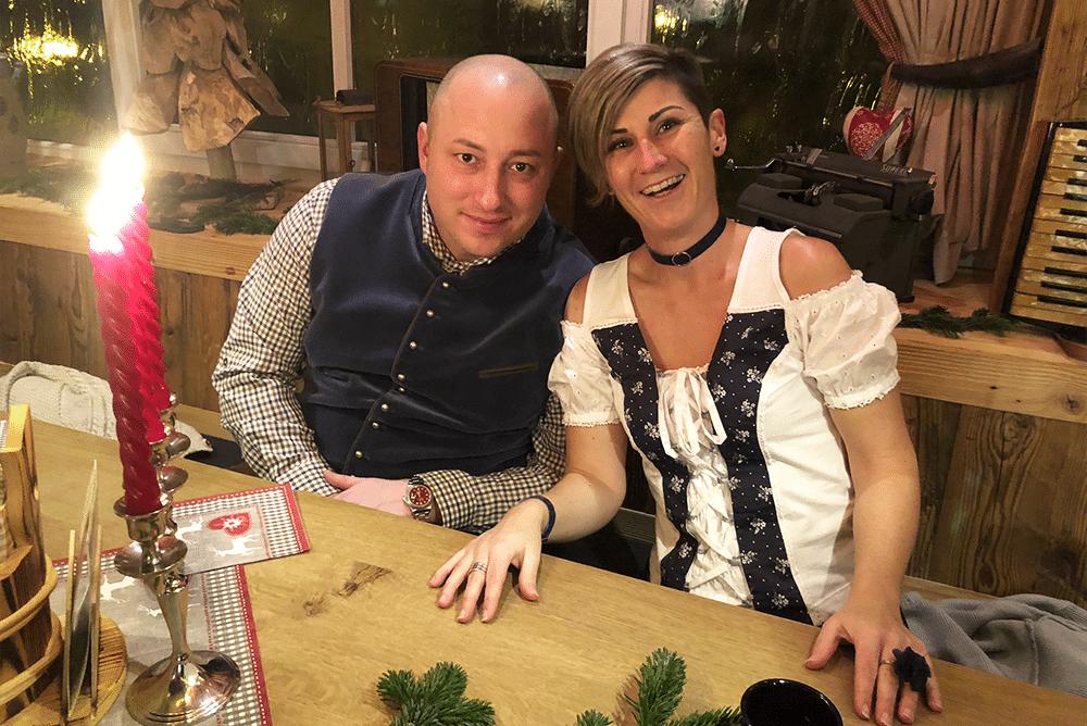 Marco und Sonja Weihnachtsfeier