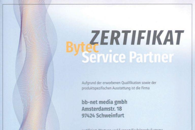 bytec-zertifikat Service Partner
