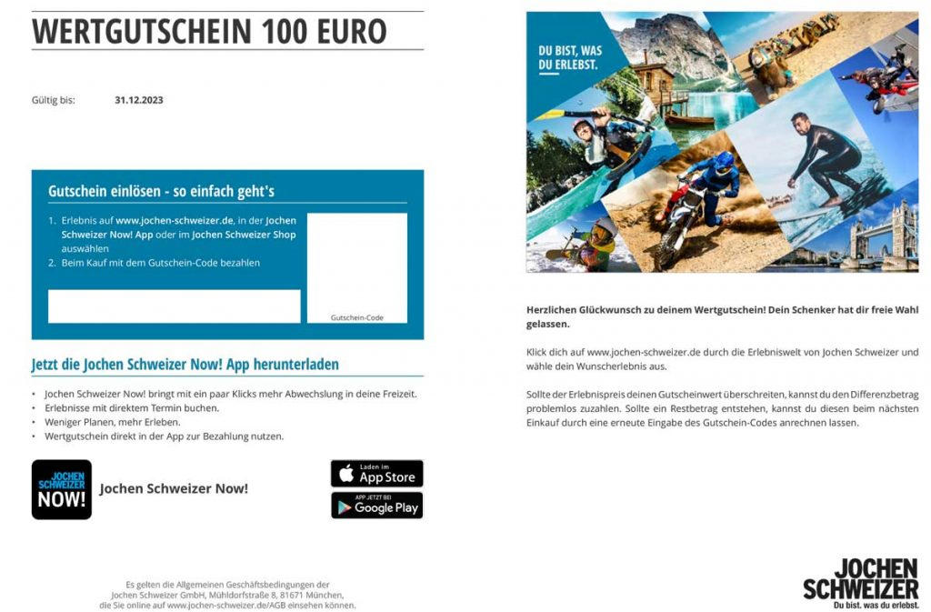 Wertgutschein100euro-JochenSchweizer