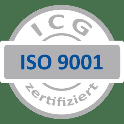 ISO 9001 Grau Blau ICG