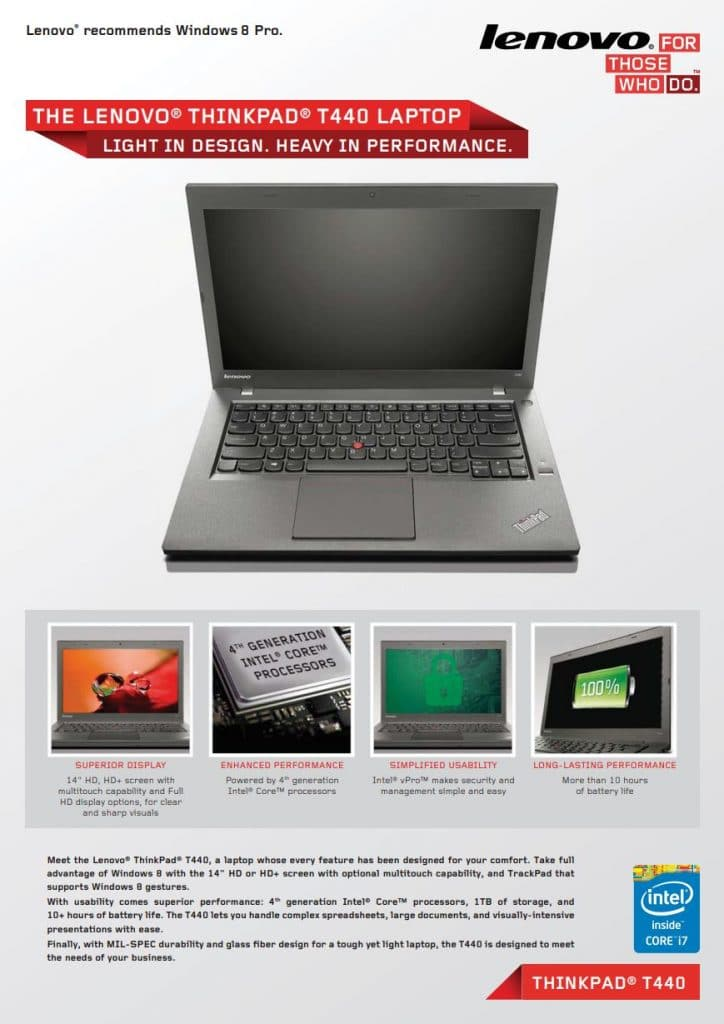 Datenblatt Lenovo Thinkpad T440