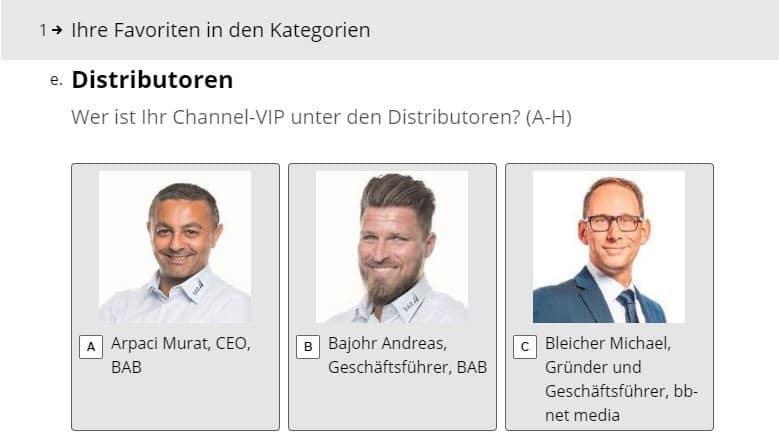Channel-VIP unter Distributoren Kandidaten