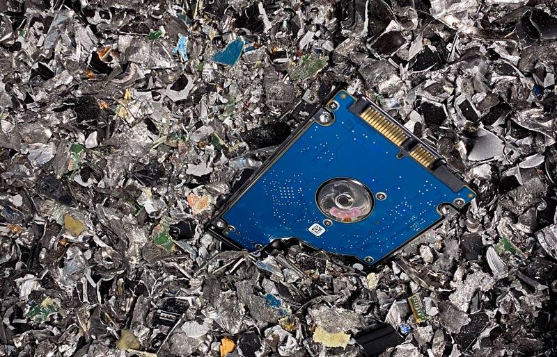 Festplatte gelöscht und geschreddert